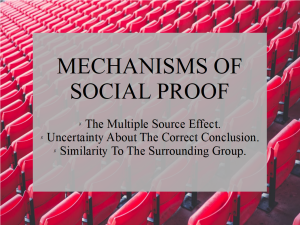 Mechs of Social Proof